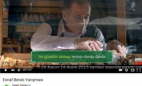 Garanti Esnaf Berat� Yar��mas� Reklam�'nda oyuncumuz H�smen Y�ksel, rol ald�.