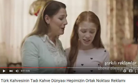 Kahve D�nyas� Reklam�nda oyuncumuz Meryem Birdal, rol ald�.
