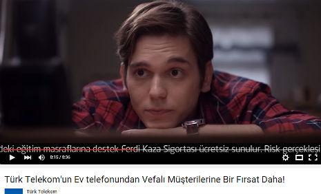T�rk Telekom Reklam�nda oyuncumuz Onur T�ten, rol ald�.