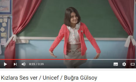 K�zlara Ses ver / Unicef Reklam�'nda oyuncumuz �remsu Teker, rol ald�.
