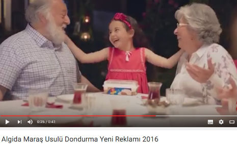 Algida Dondurma Reklam�'nda, oyuncumuz �kra K�lahl�o�lu, rol ald�.