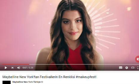 Maybelline Youtube Videosu'nda oyuncumuz Nur Cansu Solak, rol ald�.