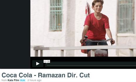 Coca Cola Ramazan Reklam�'nda oyuncumuz Mert Sar�, rol ald�.