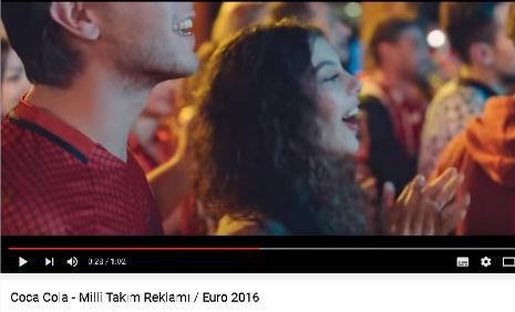 Coca Cola Milli Tak�m Euro 2016 Reklam�'nda, oyuncumuz Nur Cansu Solak, rol ald�.