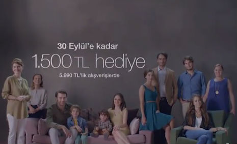 Enza Home Reklamý'nda, oyuncularýmýz Öznur Varlý, Muhammet Emir Gül, rol aldý. - IMC AJANS