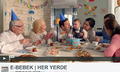 Ebebek.com Reklamý'nda, kadromuzda bulunan Baran Veli Adar, rol aldý.    - IMC AJANS