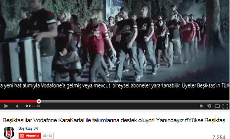 Vodafone Reklamý'nda, kadromuzda bulunan Ahmet Uludað, rol aldý. - IMC AJANS