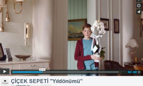 ciceksepeti.com Reklamý'nda, oyuncumuz Emirhan Özfidan, rol aldý. - IMC AJANS