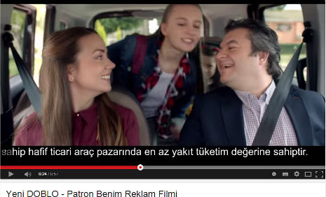 Fiat Doblo Reklamý'nda ve Fotoðraf Çekiminde oyuncumuz Melisa Özlem Þeniþ rol aldý. - IMC AJANS