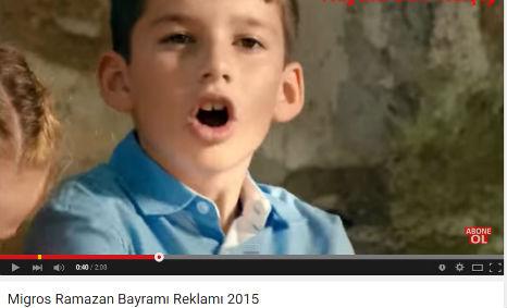 Migros Ramazan Bayramý Reklamý'nda kadromuzda bulunan Metehan Hacýoðlu rol aldý.   - IMC AJANS
