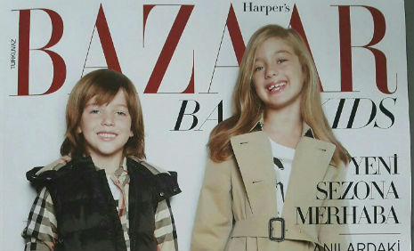 Harper's Bazaar Kids Dergisi'nde, fotomodelimiz Selin Çavdar yer aldý. - IMC AJANS