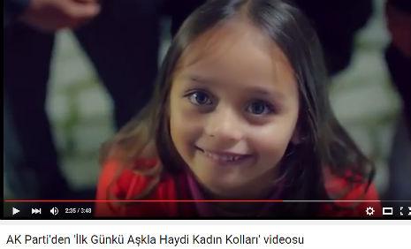 Ak Parti Ýlk Günkü Aþkla Haydi Kadýn Kollarý Videosu'nda oyuncumuz Gülcan Yaren Özverdi, rol aldý. - IMC AJANS
