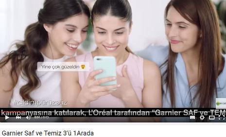 Garnier Reklamý'nda oyuncumuz Nur Cansu Solak, rol aldý. - IMC AJANS