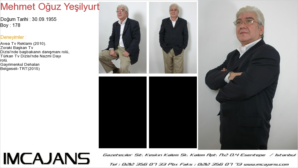 Gayrimenkul Dehalarý Belgeseli'nde oyuncumuz Mehmet Oðuz Yeþilyurt rol aldý. - IMC AJANS