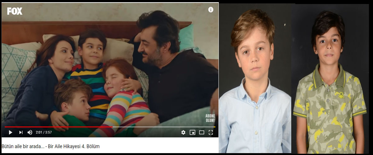 Fox TV Bir Aile Hikayesi dizisinde çocuk oyuncularýmýz Süha Ceylan ve Atlas Tellioðlu yer aldý. - IMC AJANS
