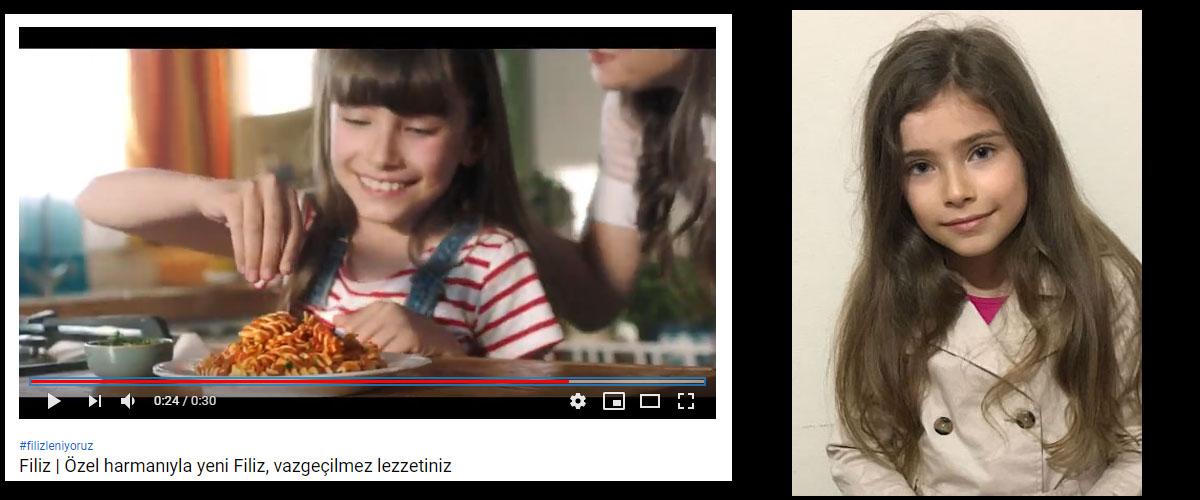 Filiz Makarna reklamýnda baþarýlý oyuncumuz Ýklim Çelik yer aldý. - IMC AJANS
