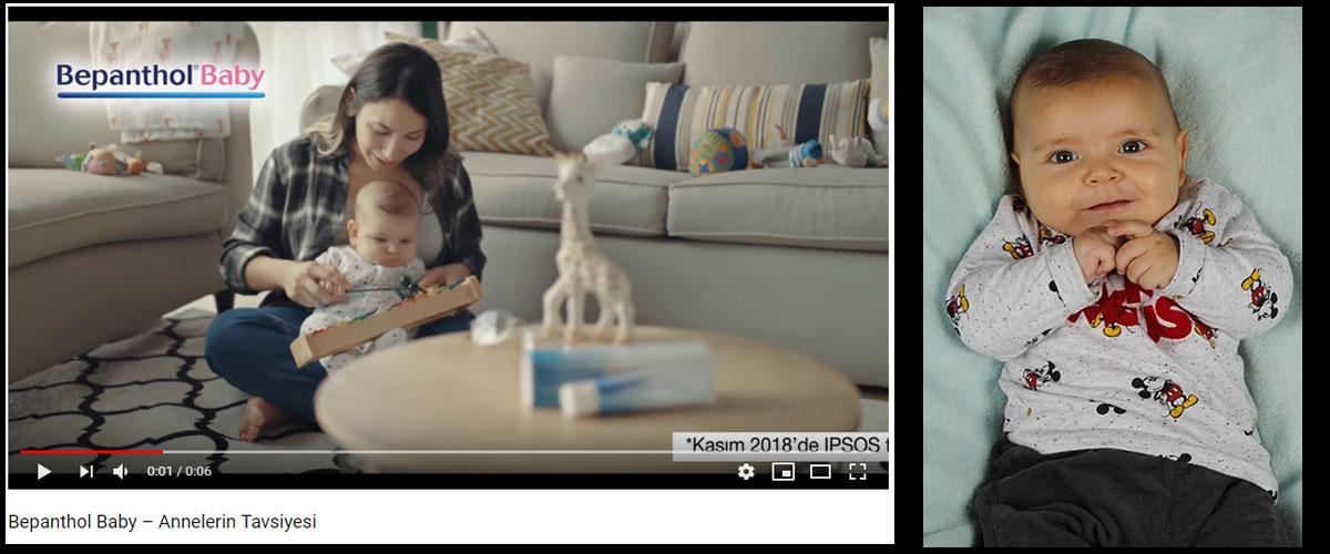 Bepanthol Baby reklamýnda bebek oyuncumuz Arsel Leon Aygör ve annesi Funda Aygör yer aldý. - IMC AJANS