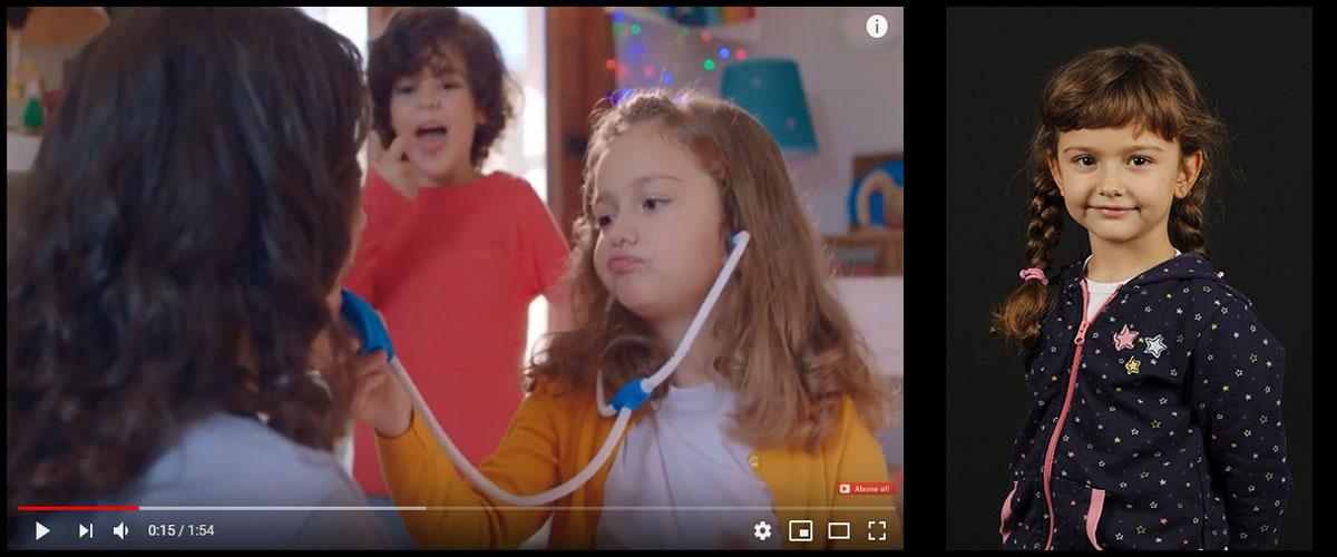 Ozmo reklamýnda çocuk oyuncumuz Almina Kahraman rol aldý - IMC AJANS