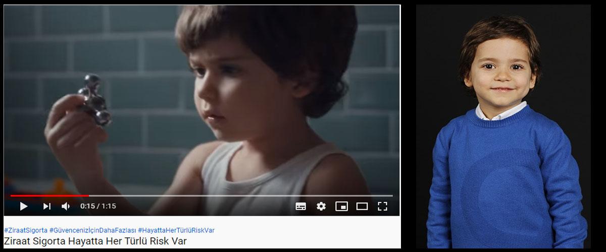 Ziraat Sigorta reklamýnda çocuk oyuncumuz Yusuf Gürle rol aldý - IMC AJANS