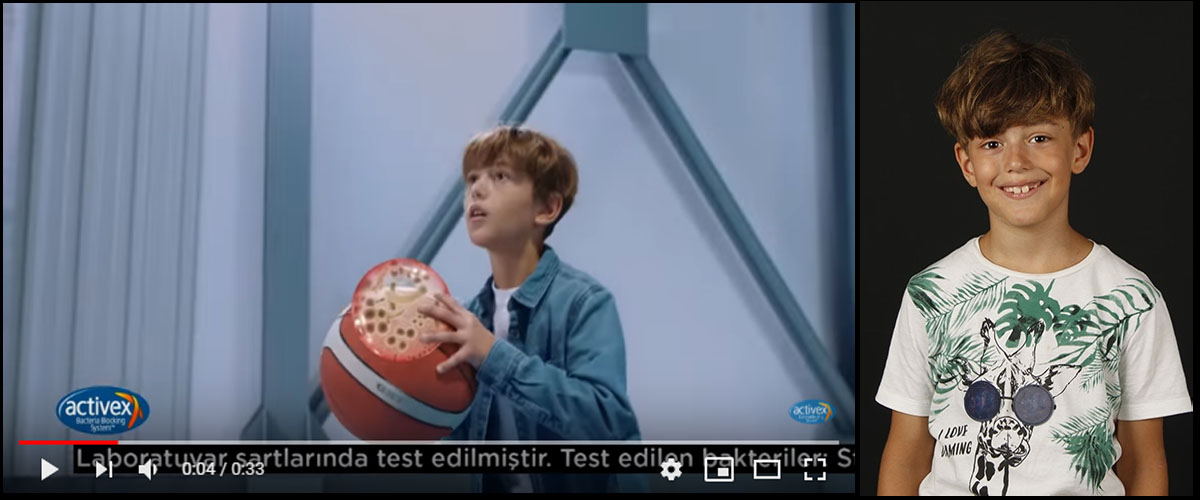 Activex reklamýnda baþarýlý çocuk oyuncumuz Tolgahan Küçük rol aldý. - IMC AJANS