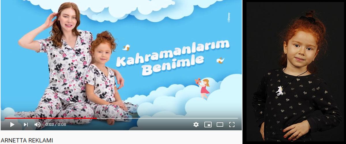 Arnetta reklamýnda baþarýlý oyuncumuz Gülizar Nisa Uray yer aldý. - IMC AJANS