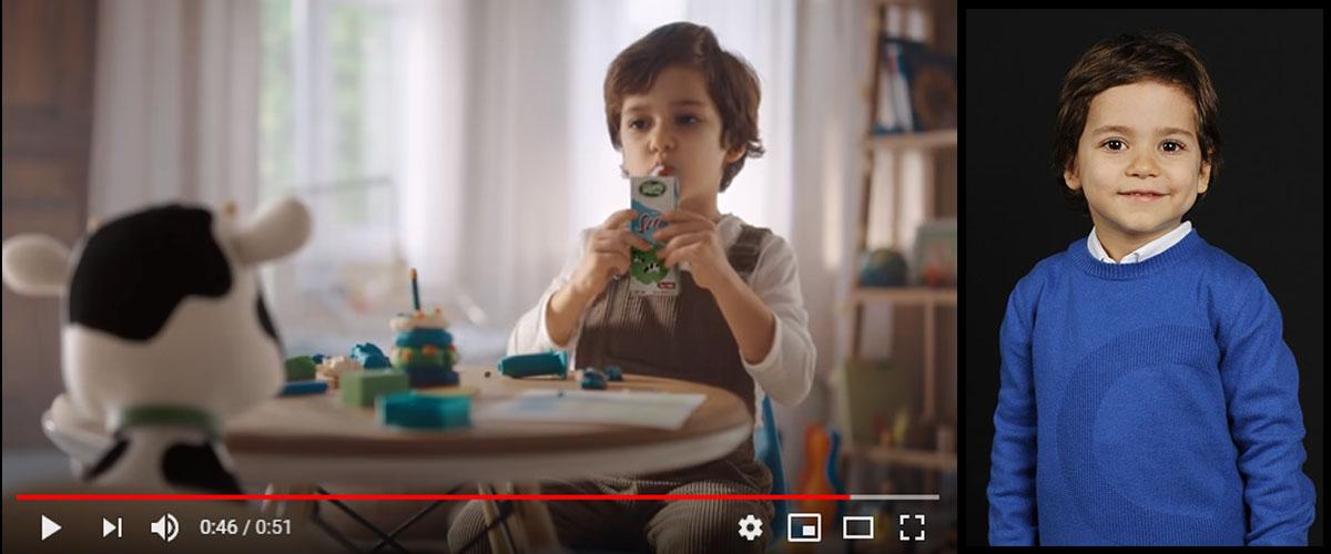 Sütaþ reklamýnda çocuk oyuncumuz Yusuf Gürle yer aldý - IMC AJANS