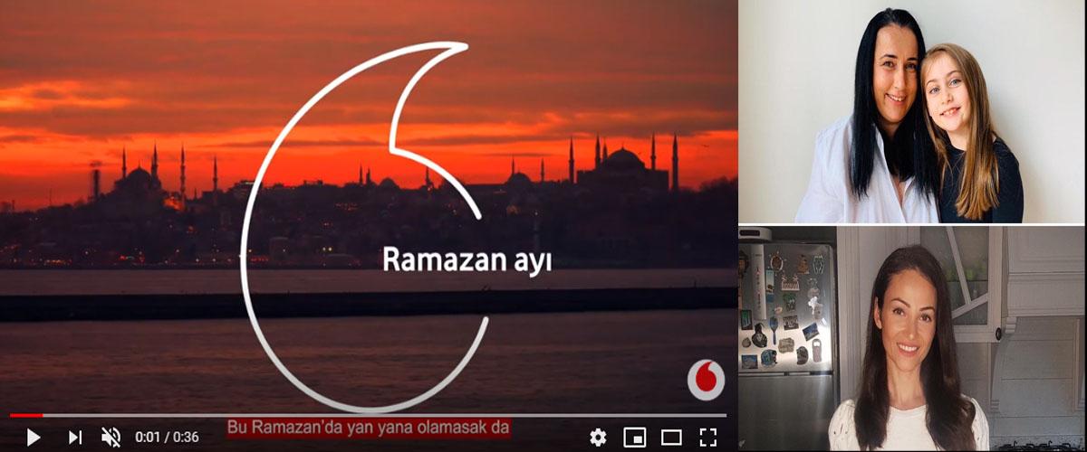 Vodafone Ramazan reklamýnda oyuncularýmýz Burcu Sivri, Pera Doðan ve Annesi Özge Doðan evlerinden reklam çalýþmasýna katýldý. - IMC AJANS