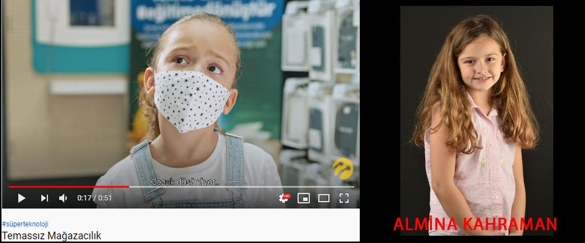 Türkcell temassýz maðazacýlýk reklamýnda baþarýlý oyuncumuz Almina Kahraman yer aldý. - IMC AJANS