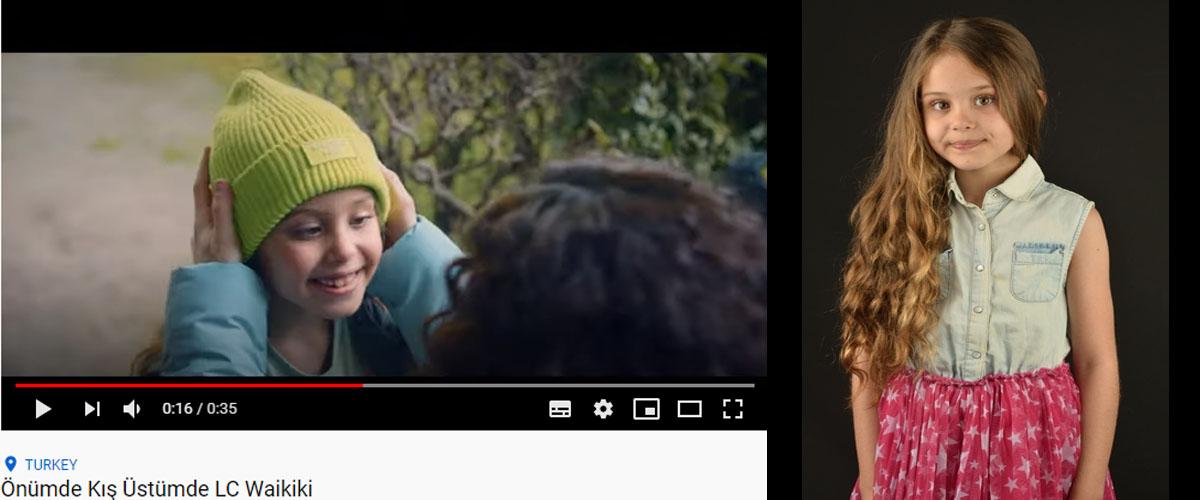 Lc Waikiki reklamýnda baþarýlý oyuncumuz Almina Günaydýn yer aldý. - IMC AJANS