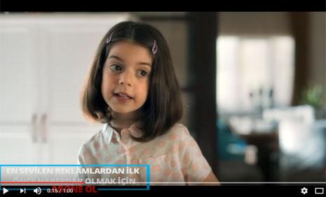KARACA Anneler Günü Reklamýnda Oyuncumuz Edanur Tözel Rol Aldý - IMC AJANS