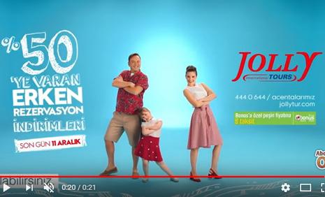 Çocuk Oyuncumuz Mihrimah Cankur, Jolly Tur ile Çýktým Tatile Reklamýnda - IMC AJANS