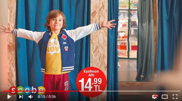 Çocuk oyuncumuz Alp Eren Günberi, Sobe Çocuk Giyim reklamýnda yer aldý - IMC AJANS