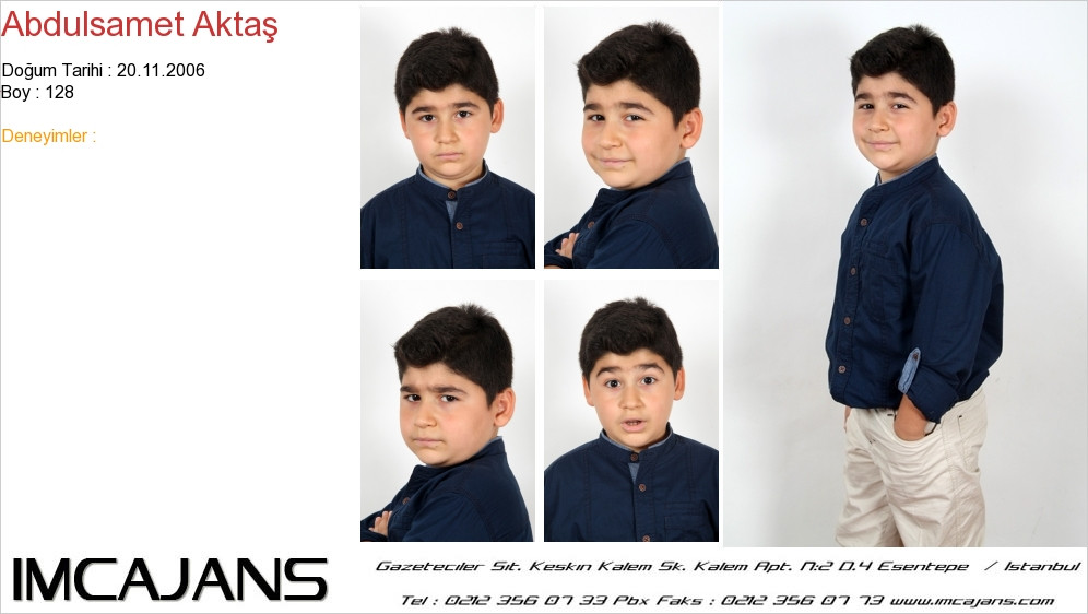Abdulsamet Akta� - IMC AJANS