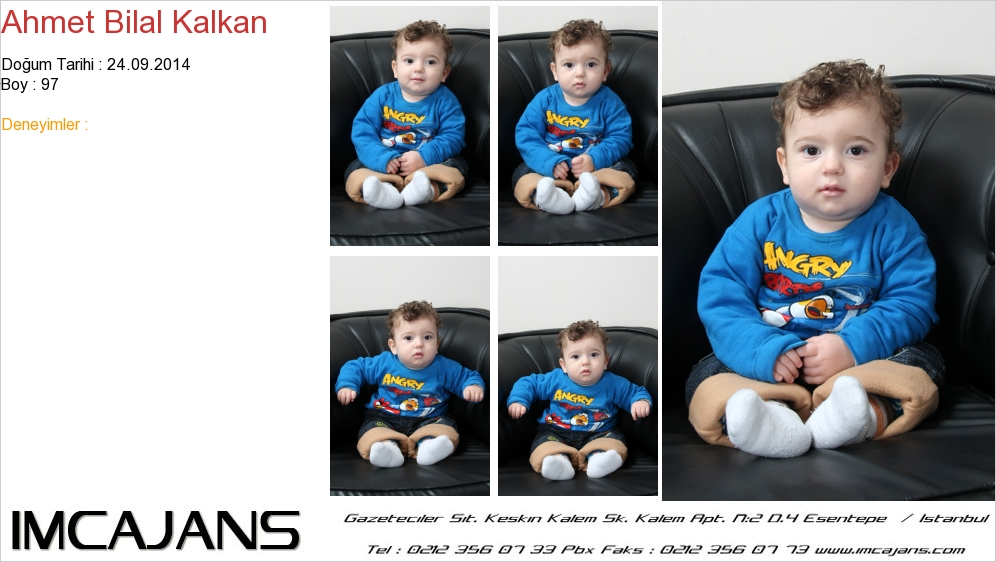 Ahmet Bilal Kalkan - IMC AJANS