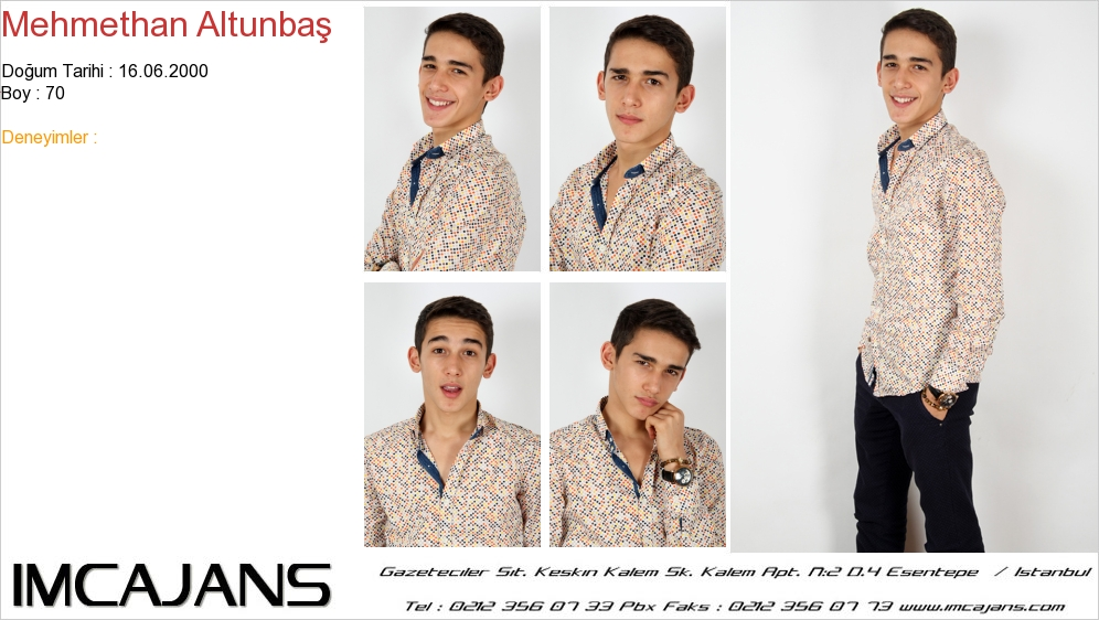 Mehmethan Altunba� - IMC AJANS