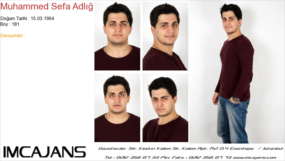 Muhammed Sefa Adl�� - IMC AJANS