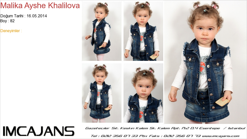 Malika Ayshe Khalilova - IMC AJANS