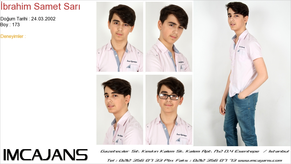 Ýbrahim Samet Sarý - IMC AJANS