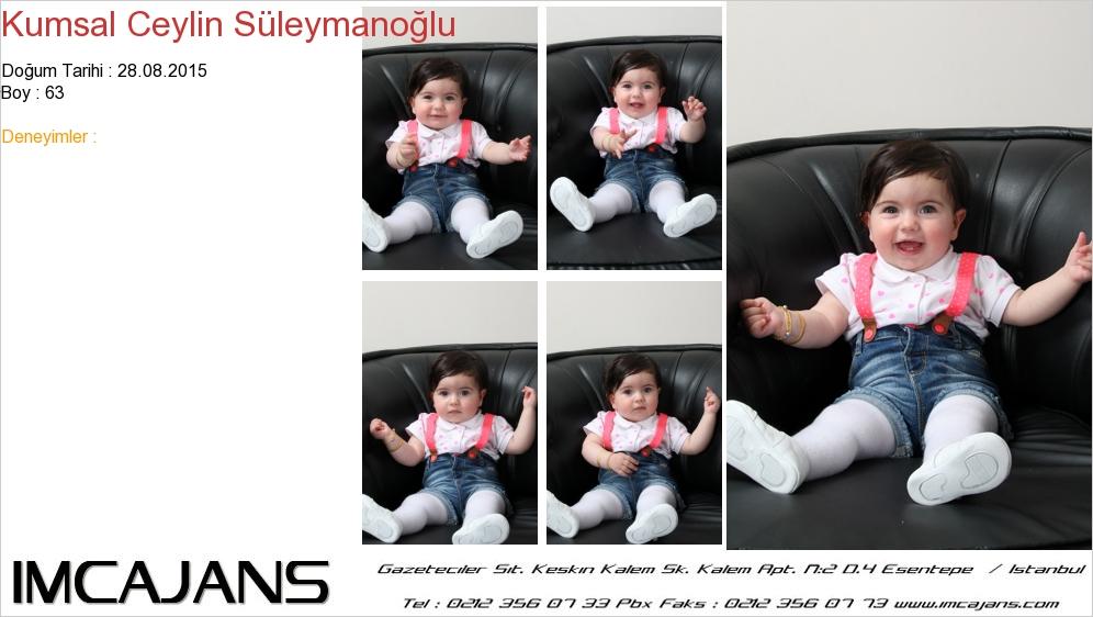 Kumsal Ceylin Süleymanoðlu - IMC AJANS