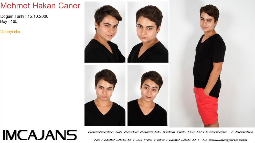 Mehmet Hakan Caner - IMC AJANS