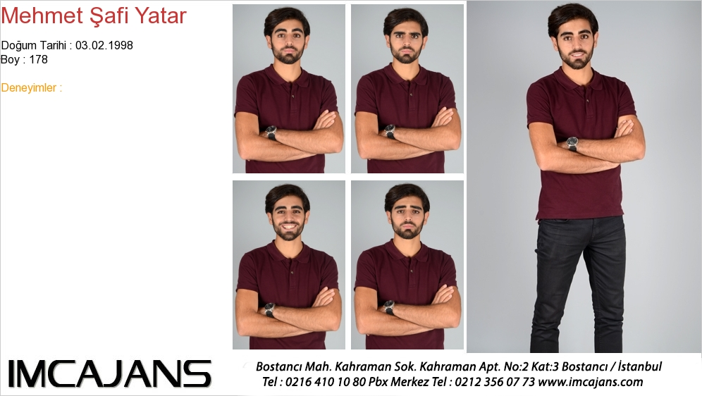 Mehmet Þafi Yatar - IMC AJANS