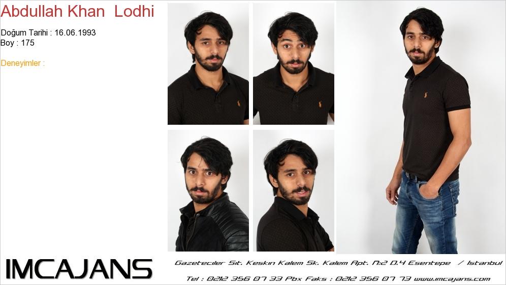 Abdullah Khan  Lodhi - IMC AJANS
