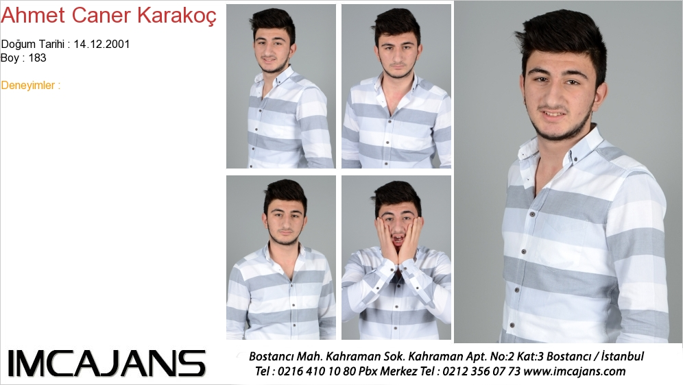 Ahmet Caner Karakoç - IMC AJANS