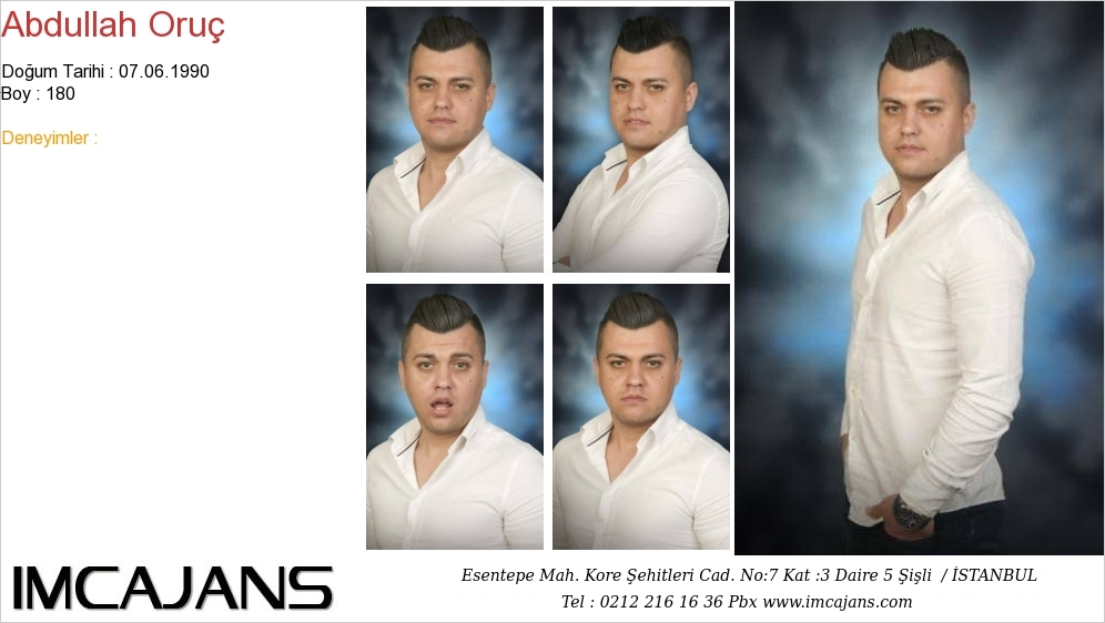 Abdullah Oruç - IMC AJANS