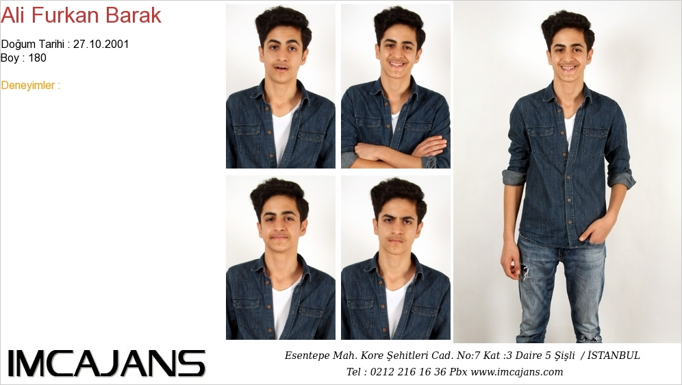 Ali Furkan Barak - IMC AJANS