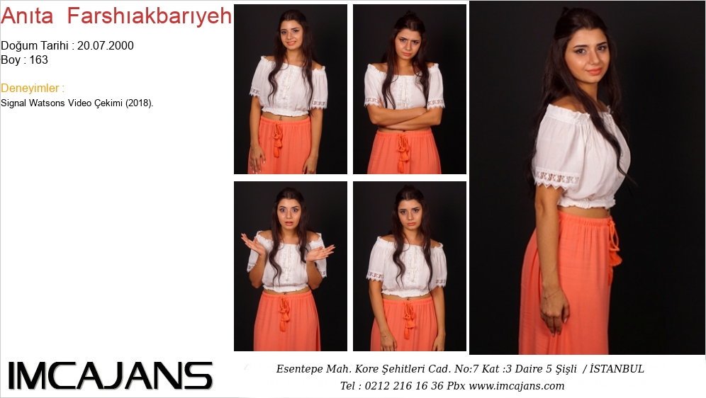 Anýta  Farshýakbarýyeh - IMC AJANS