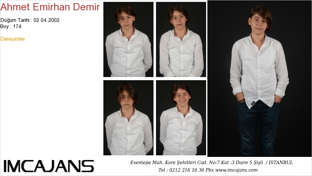 Ahmet Emirhan Demir - IMC AJANS