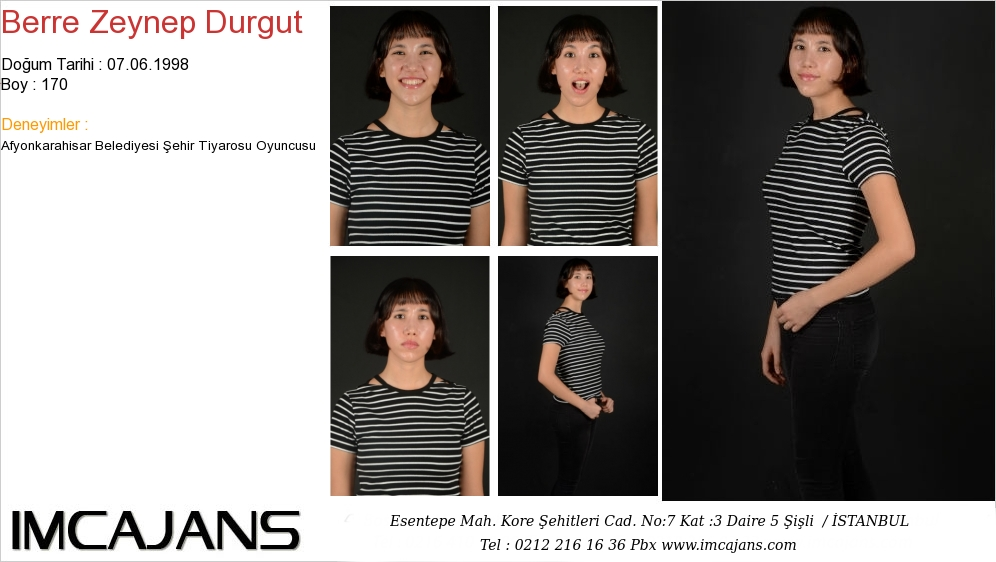 Berre Zeynep Durgut - IMC AJANS