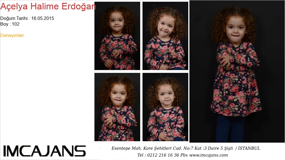Açelya Halime Erdoðan - IMC AJANS